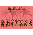 Invitation to a beach party vector image vector image