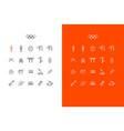 japanese line art icons set for tokyo 2020 summer vector image