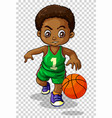 Male basketball player on transparent background vector image