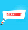 male hand holding megaphone with sale discount vector image vector image