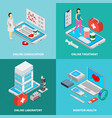 mobile medicine concept icons set vector image vector image