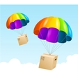 parachute background Air shipping concept vector image vector image