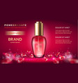 pomegranate perfume ads vector image vector image