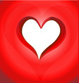 red heart shape on red background icon vector image
