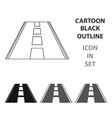 road icon of for web and vector image vector image