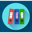 Row of binders flat icon vector image