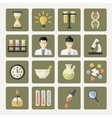 Science and research Web Icons vector image vector image