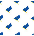 seamless pattern with flags european union vector image