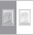 set of blank template packaging foil wet wipes vector image vector image