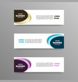 set of color banners abstract design vector image vector image