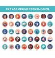Set of modern flat design travel vacation vector image vector image