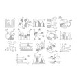 set various diagrams graphs growth and vector image vector image