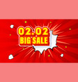 shopping day 0202 global big sale year vector image vector image