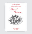 sketch - french toast card vector image vector image