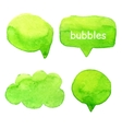Speak bubbles watercolor set vector image vector image