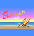 summer mood beautiful sandy beach in evening time vector image vector image