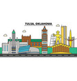 tulsaoklahoma city skyline architecture vector image vector image