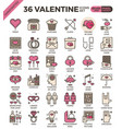 valentine concept icons vector image vector image