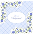 Vintage card with cornflowers and leaves vector image vector image