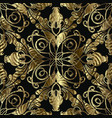 Vintage gold ornamental damask seamless pattern
