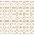 vintage seamless pattern with medieval royal crown vector image vector image