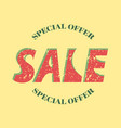 word sale on a yellow background vector image