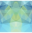 Background made of blue green triangles Square vector image