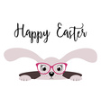 Happy Easter bunny girl card vector image