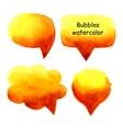 Speak bubbles watercolor set vector image