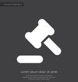 court law premium icon white on dark background vector image