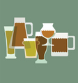 Alcoholic drinks vector image