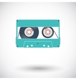 Audiocassette single icon vector image vector image