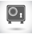 Bank safe icon vector image vector image