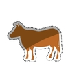 Beef meal silhouette vector image vector image