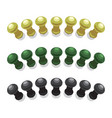 big pushpins set of isolated vector image