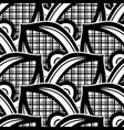 black and white seamless pattern with ethnic vector image vector image