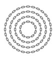 black round chain vector image vector image