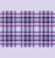 blue pixel check plaid seamless pattern vector image