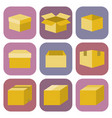 box icon in flat style vector image