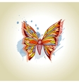 Butterfly and ink splats vector image vector image
