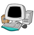 cartoon computer vector image