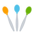 child cutlery on white vector image vector image
