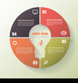 circle four step template with icons vector image