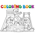 coloring book playground theme 1 vector image vector image