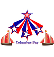 Columbus Day in America vector image vector image