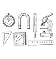 compass and magnet alpelmet with thermometer and vector image