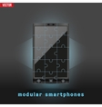 Concept of Modular smartphone Background vector image vector image