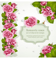 corners and repeating a garland for design vector image vector image