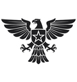 eagle and star coat arms vector image vector image