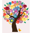 Easter Beautiful Tree vector image vector image